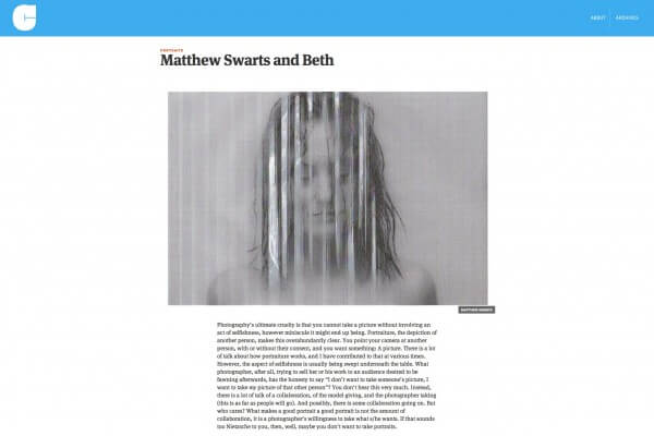 Matthew Swarts + Jörg Colberg + Conscientious Photography Magazine